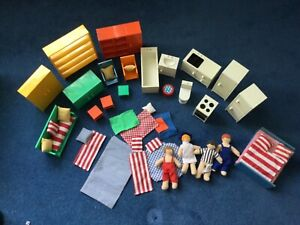 Huge Vintage IKEA Dolls House Furniture Collection and figures, retro. 1990's ?
