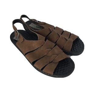 JOSEF SEIBEL Womens Brown Suede Leather Comfort Sandals Sz 39 / 8 US
