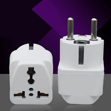 Universal UK/US/AU to EU AC Power Plug Travel Charger Adapter Socket Converter