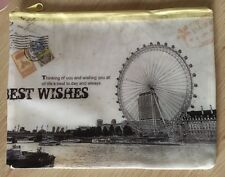 London Eye Pencil Case Vintage Style A5 Cosmetic Pouch