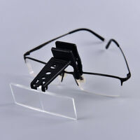 Clip-on gafas lupa binoculares lentes con 3 lente 1.5 x, 2,5 x, 3,5 x  Cw