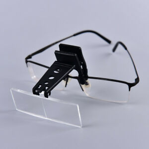Clip-on Eye Glasses Binocular Magnifier Eyeglasses With 3 Lens 1.5X,2.5X,3.5JO