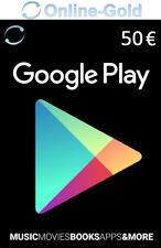 Google Play 50 Euro Guthaben Key Store Gutschein 50€ Eur Geschenkkarten - EU