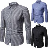 Shirt Shirts Fashion Long Sleeve Luxury Slim Fit Casual Tops Men's Dress