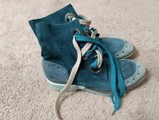 DKODE blue suede leather lace up boots size 40/9