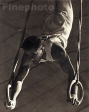 1936 Vintage OLYMPIC French MALE GYMNAST Rings France Photo Art 11x14 PAUL WOLFF