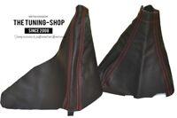 Gear & Handbrake Boot For Subaru Impreza WRX 2007-12 Leather Red Stitching