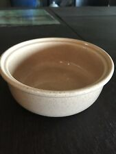 "Bauer Pottery Casserole Bowl Speckled Fleshy Color Glaze 7.5"" x 3"""