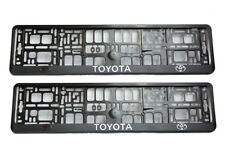 2x TOYOTA 3D CHROME EFFECT NUMBER PLATE SURROUNDS HOLDER FRAME