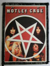 MOTLEY CRUE Pentagram Original Vintage 1980`s Photo Card Patch
