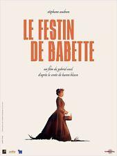 Affiche 40x60cm LE FESTIN DE BABETTE (1987) Stéphane Audran R2012 NEUVE