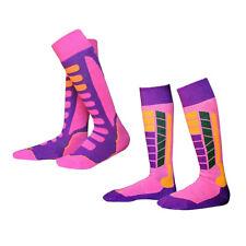 2 Pair Kids Child PINK Soft High Performance Ski Long Socks Snowboarding