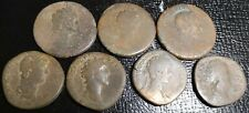 Lot of 7 Sestertius All different rulers see description & pictures for details