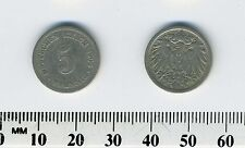 Germany Empire 1900 A  - 5 Pfennig Copper-Nickel Coin - Berlin Mint - #2