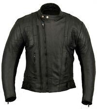 US20 uomo in pelle giacca da moto 50 O 4XL