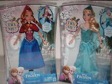 "DISNEY""FROZEN ""ANNA AND ELSA-SINGING,MAGIC LIGHT UP,HOLDING HANDS DOLLS 12"" TALL"