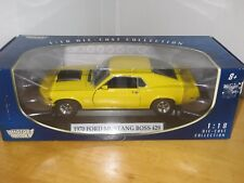1970 Ford Mustang Boss 429  1:18 Die Cast Yellow By Motor Max