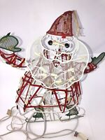"Vintage Santa Ice Skating Moving Parts Lighted (Needs Repair) Metal 21"" Tall"