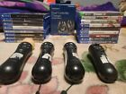 Sony PlayStation, PS4, PS5, Xbox Series X 17 Video Games,Move Controllers Bundle