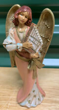 Maya Playing Pan Flute - Has Gold Wings # 75531 Fontanini By Roman