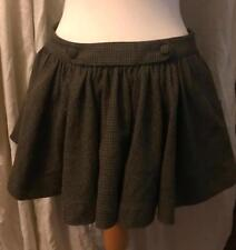 Ladies green check wool mini skirt by Jack Wills 8