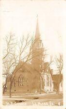 Le Mars Iowa~Methodist Episcopal Church~House~1912 Real Photo Postcard~RPPC