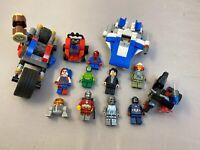 Lego Lot 9 Minifigures Star Wars Avengers Spider Man Harley Quinn Vehicles +++