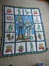 VINTAGE DISNEY PIXAR TOY STORY WOODY BUZZ MR POTATO HEAD  THROW TAPESTRY BLANKET