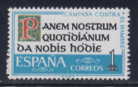 ESPAÑA (1963) MNH - NUEVO SIN FIJASELLOS SPAIN - EDIFIL 1512 CAMPAÑA HAMBRE