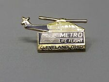 Vintage Metro LifeFlight Medical Helicopter Pin Badge