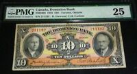 CANADA ,THE DOMINION BANK 1935 $10 - PMG 25