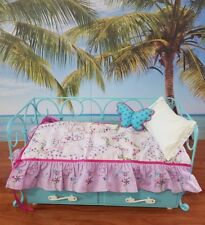 EUC American Girl Trundle Bed Retired with mattresses bedding