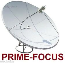 1.65 M PRIME FOCUS SATELLITE C/ KU BAND DISH ANTENNA 165 CM W/ POLE FTA