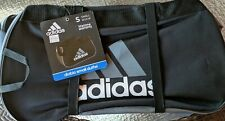 Adidas Small Diablo Duffle Bag Black Adjustable Shoulder Strap Grey White New