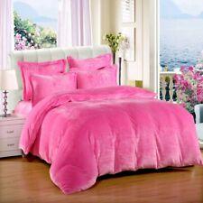3 Pc Full / Queen / Oly Queen Baby Pink Plain Velvet Duvet Cover Set home decor
