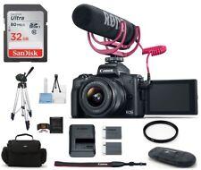 Canon EOS M50 Digital Camera with 15-45mm Lens Video Creator 32GB Bundle Kit