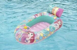 Disney Princess Little Mermaid Inflatable Beach Boat Float Raft Kids 40-66 lbs