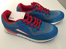 Bnwt Older Boy Sz 2 Quality Target Brand Smart Blue Red Athletic Jogger Shoes