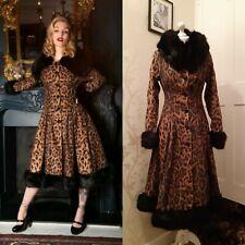BNWT Collectif Vintage Leo Coat Leopard Print Pearl Size 8  RRP £192.50