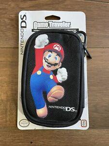Nintendo DS Case Handheld Nylon Fabric console Games Pouch Mario Black Travel