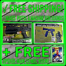 NEW Operation Storm Force Dual Action Blaster + SPIDERMAN Comic TOY GUN + SOUNDS