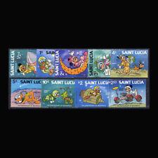 St Lucia, Sc #491-99, MNH, 1980, Disney, Space Scenes, IYC, Cpl Set, 7GAI