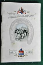 The Richmond Royal Horse Show Official Program, June 13th & 14th, 1913
