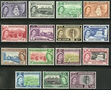 Montserrat   1953-57   Scott # 128-142   Mint Lighty Hinged Set