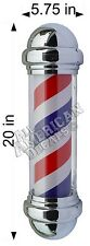Barber Pole Decal Full Color, Long Term Vinyl Decal Sign 20in. + 2 Push Pulls