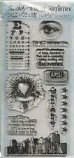 Tim Holtz Visual Artistry Collection City Central Clear Stamp Set