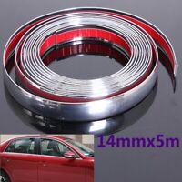 14mm x 5m Chrome Car Styling Moulding Strip Trim Self Adhesive Crash Protecter