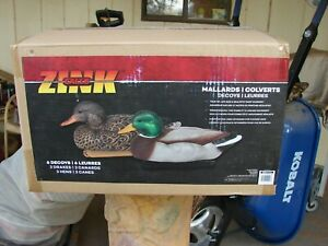 NEW ZINK  MALLARD DUCK DECOYS 6 PACK FLOATING