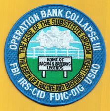 C9 * KOKOPELLI FBI BANK ARMED ROBBERY JTTF OP BANK COLLAPSE POLICE PATCH FED HRT