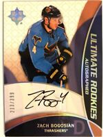 2008-09 Ultimate Collection Autograph Rookie Card Zach Bogosian RC /399 #95